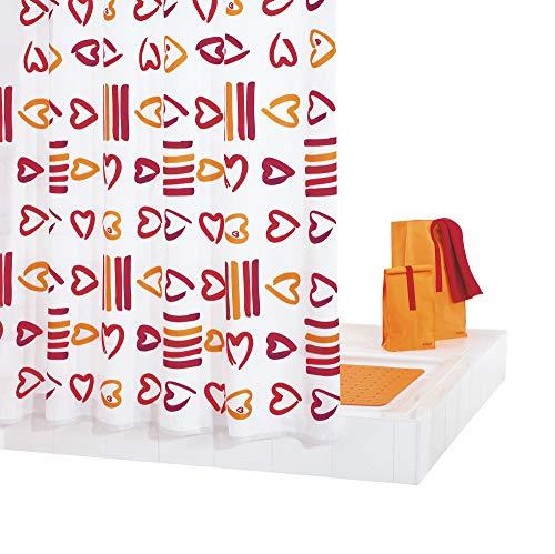 GRUND Duschvorhang SOGNO 180x200 cm rot-orange