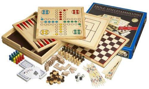 Philos 9960 - Holz-Spielesammlung mit 10 Spielmöglichkeiten