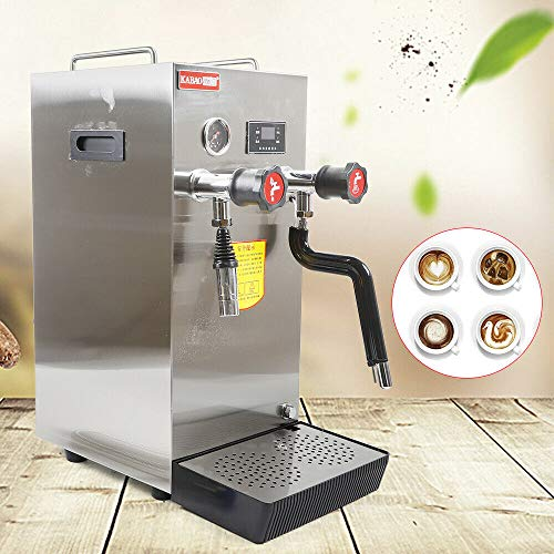 Commercial Multi-Purpose Milk Frother 8L Full-Automatic Steam Boiling Water Frothing Machine, Electric Milk Foam Maker LCD Display for Espresso Coffee Tea Coffee Shop Dessert Shop Hotel Milk US STOCK