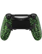 eXtremeRate Dawn Programable Remap Kit Botón de Reasignación para Playstaion 4 con Board de Actuelización&Carcasa Trasera Diseñada&4 Botones Traseros para PS4 Mando JDM 040/050/055(Salpicadura Verde)