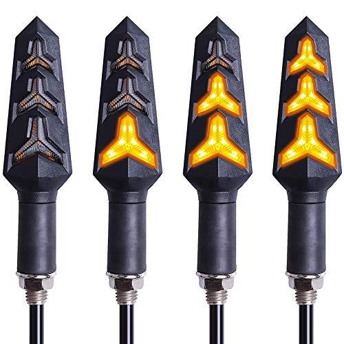 Kinstecks 4PCS Indicatori di direzione per Moto Indicatori di direzione per Moto Indicatori di direzione per Moto 12V 12 LEDs Bulbs per Moto Motocicletta