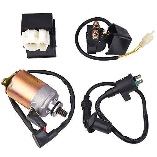 Kit eléctrico: Encendedor + paquete de alto voltaje + relé de enchufe + arranque de repuesto para Brothers Talon Gx125IIR GX150IIR 150cc Go Kart Starter Motor Bobina de encendido