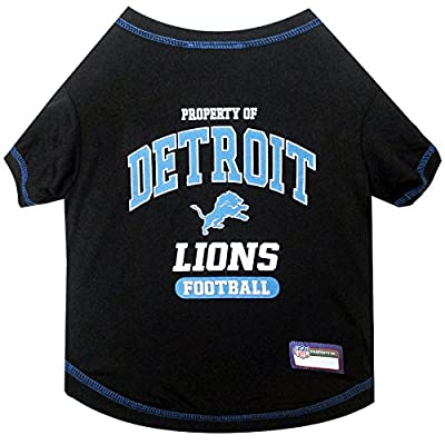 NFL DETROIT LIONS Dog T-Shirt, X-Small. - Cutest Pet Tee Shirt for the real sporty pup