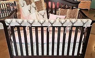 DBC Baby Bedding Co. Woodland 4 PC - Skirt, Sheet, Blanket, Long Rail Guard