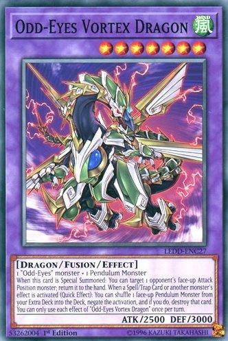 yu-gi-oh Odd-Eyes Vortex Dragon - LEDD-ENC27 - Common - 1st Edition - Legendary Dragon Decks (1st Edition)