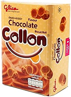 Glico Collon Waffle Roll Biscuit with Chocolate Flavoured Cream 1.9 Oz (54 G) Pack of 4