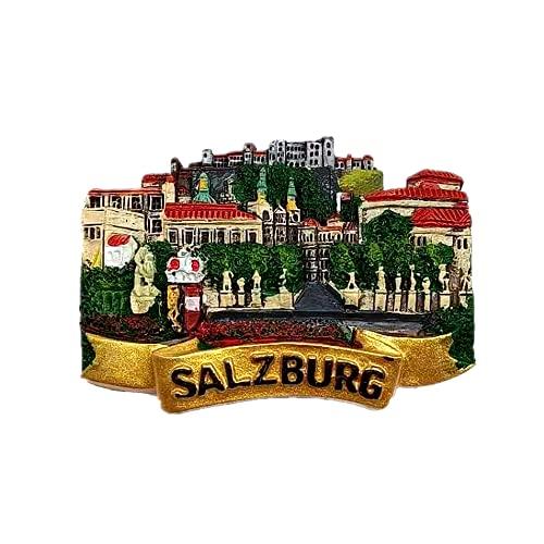 Salisburgo Austria - Magnete per frigorifero, regalo di compleanno, souvenir in resina 3D, decorazione per la casa, cucina, adesivo magnetico per frigorifero