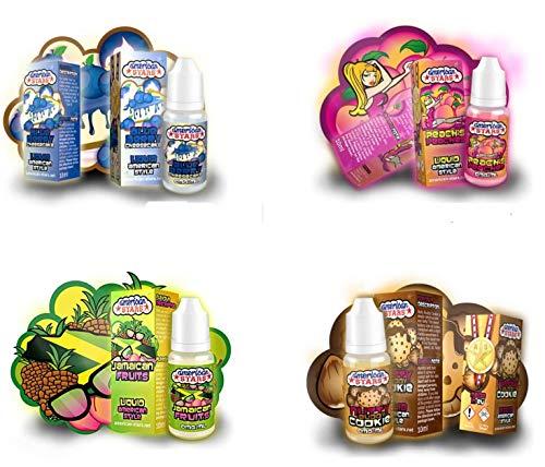 Geschenk-Set für Dampfer Liquids USA like DAS Geschmackserlebnis Liquid Set 4er Set E-Liquid für E Zigarette American Stars Nikotinfrei 00 mg