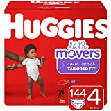 Huggies Little Movers Couches jetables pour bébé Taille 4 144 ct