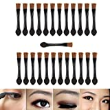 Professional Make Up Artists Set With 25pcs Short Disposable Double Ended Eyeshadows Applicators With Smudge Sponges And Eyes Brushes Makeup Tools By VAGA