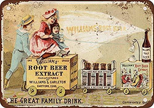 EpochSign Williams Root Beer Extract - Señal de Lata (20,3 x 30,5 cm): Amazon.es: Hogar