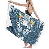Pool Bath Towel Leo Lion Beach Towel Large Swim Shower Teens Blanket Portable Boat Travel Cloth