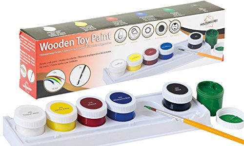 Holzspielzeug Farben - Acryl-Farben auf Wasserbasis für Kinder und Spielzeug insbesondere aus Holz geeignet