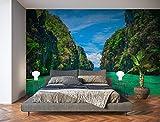 Oedim Fotomural Vinilo para Pared Paisaje Tropical en Isla   Mural   Fotomural Vinilo Decorativo   350 x 250 cm   Decoración comedores, Salones, Habitaciones