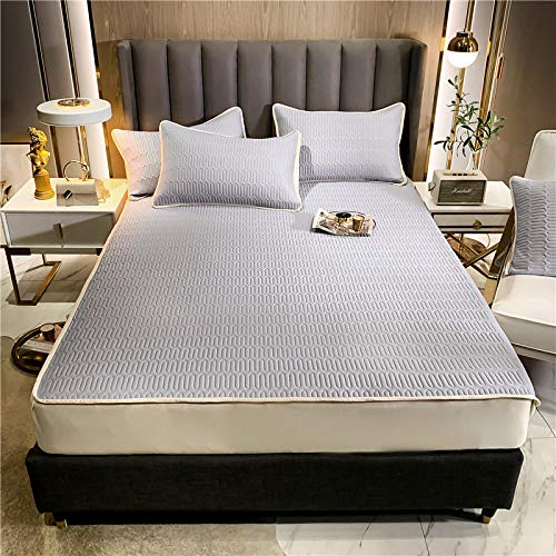 GTWOZNB Snugly Around Your Mattress Hypoallergenic, Breathable Bed Sheets Are Oh-So-Soft Covered mat-psychedelic gray_150*200cm