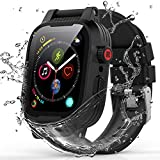 YOGRE for Apple Watch Case Series 6/5/4/SE 44mm, IP68 Waterproof Shockproof Anti-Scratches Built-in Screen Protector Apple Watch All Round Protector Case ( Add one Silicone Band)