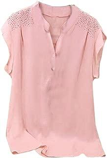 Women Ladies Hot Drill Ruffles Short Sleeve Blouse Pullover Tops Shirt