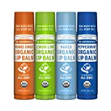 Dr. Bronner's - Organic Lip Balm (4-Pack Variety Peppermint, Orange...