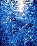 set punto de cruz -Ballena delfín fondo oceánico- hilos anchor punto de cruz baberos punto de cruz bebé babero punto de cruz kit punto de cruz niños telas punto de cruz