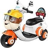 FEE-ZC Enfants sécurité Enfants roulent sur la Moto, Moto 3 Roues, vélo de Moteur électrique Tricycle pour Enfants 2-6 Ans, Musique, Phare, Batterie 6V, 3KM/H