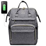 Laptop Backpack for Women Fashion Travel Bags Business Computer Purse Work Bag with USB Port, Grey