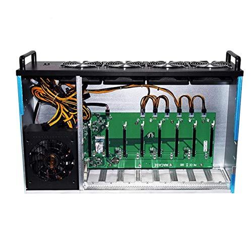 DBG ETH Mining Rig Fall Hash Rate 8 GPU Grafikkarten RX580 Bit Münze BTC Cryptocurcy Etheherum Mining Machine