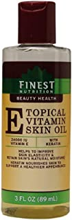 Topical Vitamin E Skin Oil with Keratin, 89 ml