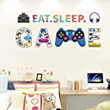 Eat Sleep Game Wall Decals Controller Video Games Wall Stickers for Boy Room Teen Room Kids Room Playroom Bedroom Wall Decoration (Game1)