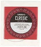 D'Addario J2704 - Cuerda individual de nailon para guitarra clásica, nivel principiante, tensión normal, cuarta cuerda, plateado