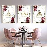 YDGG Poster Islamische Blume Wandkunst Dekor Malerei