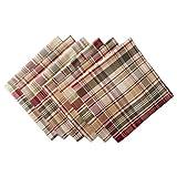 Cabin Plaid 100% Cotton Oversized Napkin, Set of 6 (20x20')