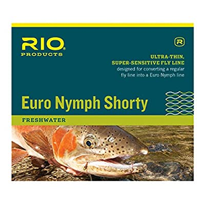 RIO Products Euro Nymph Shorty Fly Line (#2-5) - 20ft, Floating, Orange/Sage/Olive, Model: 6-20689