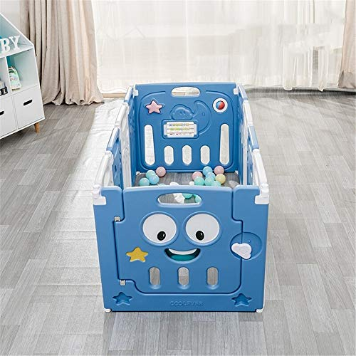 Best Bargain Dygzh Safety Child Fence Foldable Playpen Children's Activity Center Playpen Home Inter...