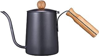 Kslong 600ml Gooseneck Tea Kettle Long Narrow Spout Coffee Maker With Wooden Handle