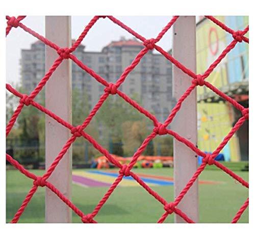 Red protectora de seguridad para niños, red de protección para evitar escalada, red de seguridad para niños, escaleras de balcón, red anticaída, red para decoración de jardín, valla de parque infantil, tejido M, cuerda de nailon, Malla de 5 cm., 3*8m