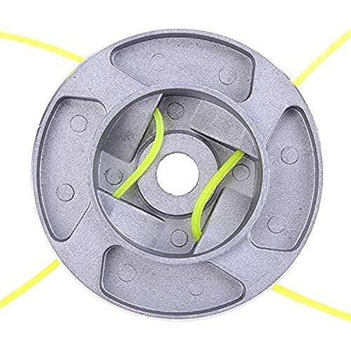 XXLYY Aluminio Cabeza De Corte De La Bandeja, Grass Trimmer Head con 4 Líneas Trimmer Cabeza De Aluminio De Corte De Hierba Line Strimmer para Desbrozadora Cortacésped Accesorios,2pcs