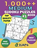 1,000++ MEDIUM Sudoku Puzzles Book: Top Quality Paper, Best Puzzles, Free Bonus!...