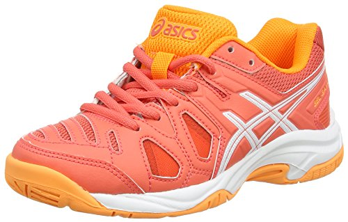 Asics Gel-Game 5 GS, Zapatillas de Tenis Unisex Niños, Naranja (Coralicious/White/Orange Pop 3001), 39.5 EU