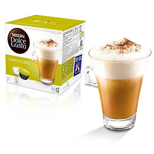 Cialde Capsule Dolce Gusto originali a caffè macchiato e cappuccino, cappuccino, 64