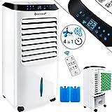 KESSER® 4in1 Mobile Klimaanlage | Fernbedienung | Klimagerät | Ventilator Klimaanlage | 10 L Tank | Timer | 3 Stufen | Ionisator Luftbefeuchter | Luftkühler | Weiß
