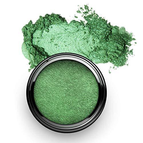 SHAMANIC The Colours, Pigment Colour Powder, Glamour Green #29, 2g grüne Pigmente, glitter Eyeliner und Eyeshadow, für farbige Akzente, vegane Naturkosmetik, Made in Germany