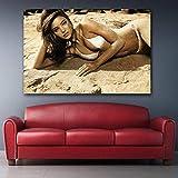 HNZKly Supermodel Miranda Kerr Beach Bikini Poster Sexy