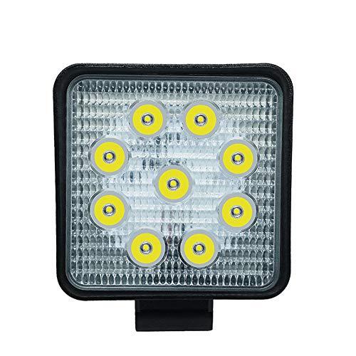 Barra de luz de trabajo LED de 27 W para camiones todoterreno, luces antiniebla, focos de luz de trabajo ATV Tractor
