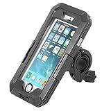 自転車 スマホ ホルダー 携帯 360度回転 固定用 防水 強力な保護防水ケース スマホ用 アウトドア自転車携帯スタンド (4インチiPhone5/5S/SC)