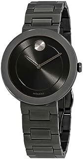 Movado Bold Grey Dial Gunmetal Ion-Plated Ladies Watch 3600500