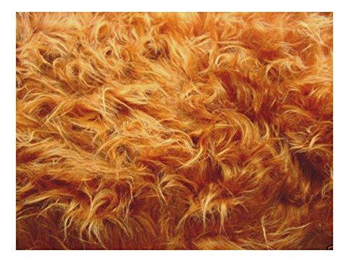 Fabrics-City % ROTBRAUN TEDDY LANGHAAR FELL STOFF FELLIMITAT STOFFE, 2708