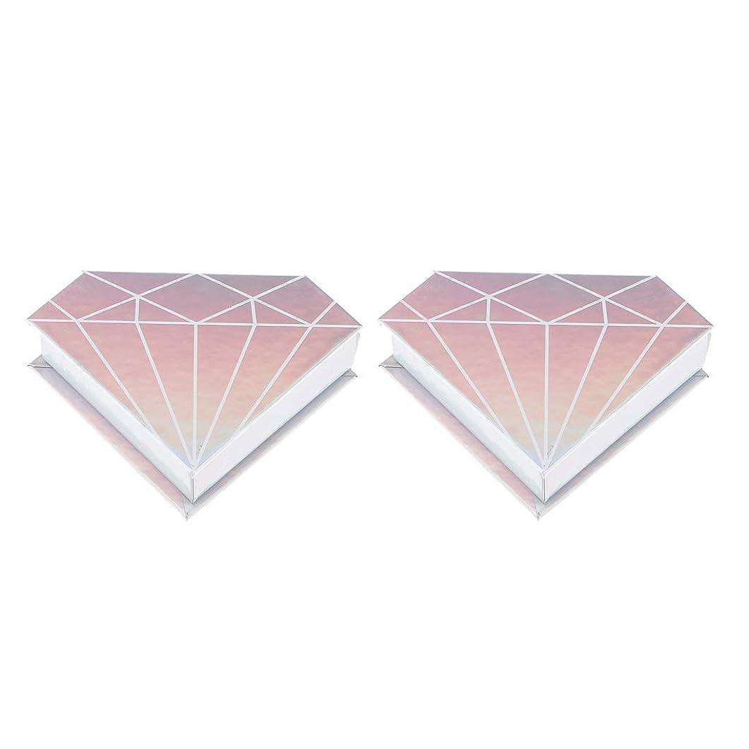 正当化するセンター検査官Injoyo 2倍磁性ダイヤモンドつけまつげ収納ケースコンテナアイラッシュホルダーボックス