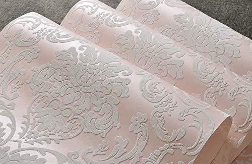 Reyqing Im Europäischen Stil Besprengung Gold Tapeten, 3D Dreidimensionale Schlafzimmer, Wohnzimmer Hintergrund Wand Tapeten, Rosa, Wallpaper Nur