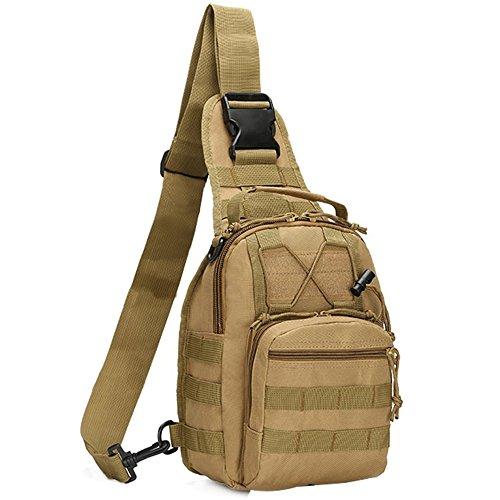 51K98aalk1L - COOLEAD Mochila Militar Hombre Triangular Crossbody Bandolera Táctica Impermeable Portátil Bolso Pecho Durable Tela…
