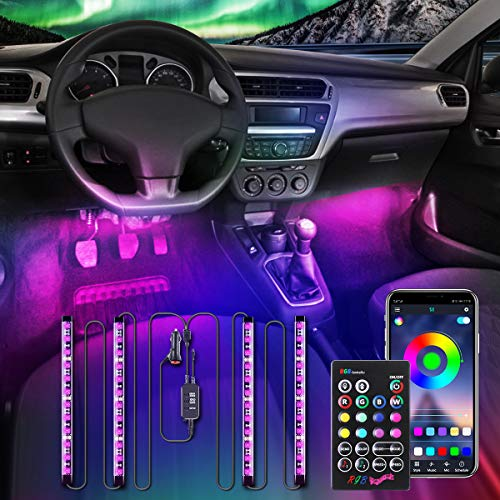 AMBOTHER Car Interior Lights APP IR Controller